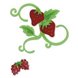 Sizzix Bigz Die - Vine With Leaves & Fruit