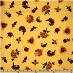FL-813 Spice Market Flannel Tossed Florals Yellow