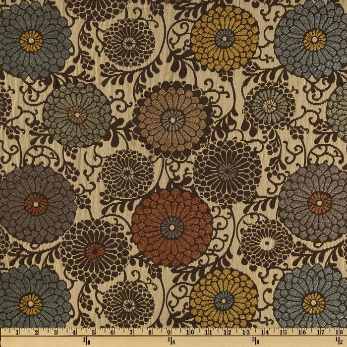 Marcovaldo Moscatel Jacquard Chenille Walnut