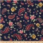 Sweet Land Of Liberty Paisley Floral Blue