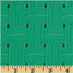 0267272 Basket Weave Cotton Eyelet Green