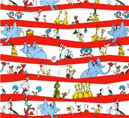 Celebrate Seuss! Character Stripe White