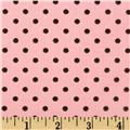 Kaufman 21 Wale Cool Cords Small Dots Blush