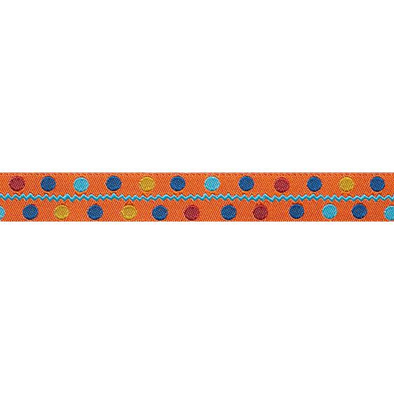 "5/8"" Sue Spargo Ribbon Multi Dots Orange"