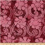 0269801 Indian Batik Floral Vine Pink/Plum