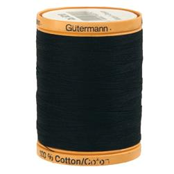 Gutermann Natural Cotton Thread 800m/875yds Midnight Blue