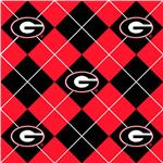 BN-649 Collegiate Fleece University of Georgia Argyle