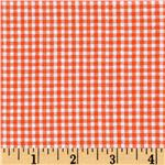 BU-584 Woven Poly/Cotton Seersucker Gingham Orange