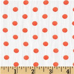 Yoryu Chiffon Dots Orange/White