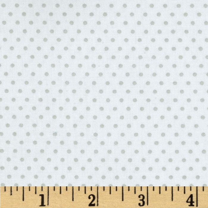 Riley Blake Willow Organic Dot White/Grey