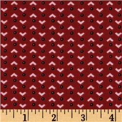 Sweet Garden Geometric Abstract Burgundy