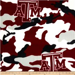 Texas A&M Fleece Camo Maroon