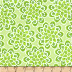 Fresh Floral Allover Green