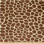 0283670 Minky Cuddle Giraffe Brown/Tan