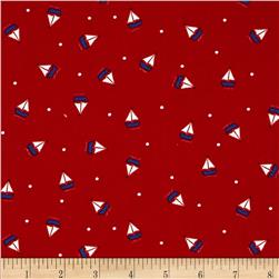 Moda Celebration Sailboat Red