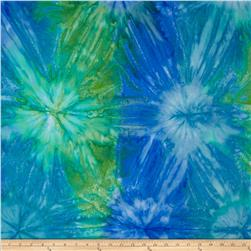 Moda Island Sun Batik Tie Dye Blue/Green Jungle
