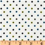 EU-384 Cozy Cotton Flannel Mini Dot Marine