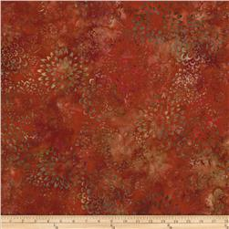 Artisan Batik Asian Legacy 3 Geo Flowers Ember Red