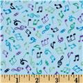 Music Notes Light Blue