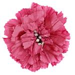 Florentina Jeweled Brooch 4'' X 4'' Fuschia