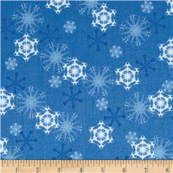 Winter Olympics Snowflakes Blue