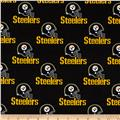 NFL Cotton Broadcloth Pittsburgh Steelers Black