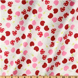 Robert Kaufman Silky Satin Merry Cherry White/Red