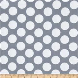 Flannel Polka Dot Grey