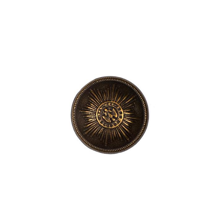 "Metal Button 1"" Medallion Antique Brass"