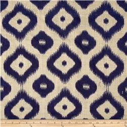 Printed Burlap Ikat Royal