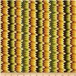 0274692 Williamsburg Virginia Flame Stitch Green/Gold