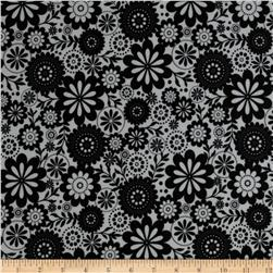 Riley Blake Evening Blooms Laminate Floral White