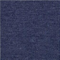 Double Knit Micro Stripe Navy