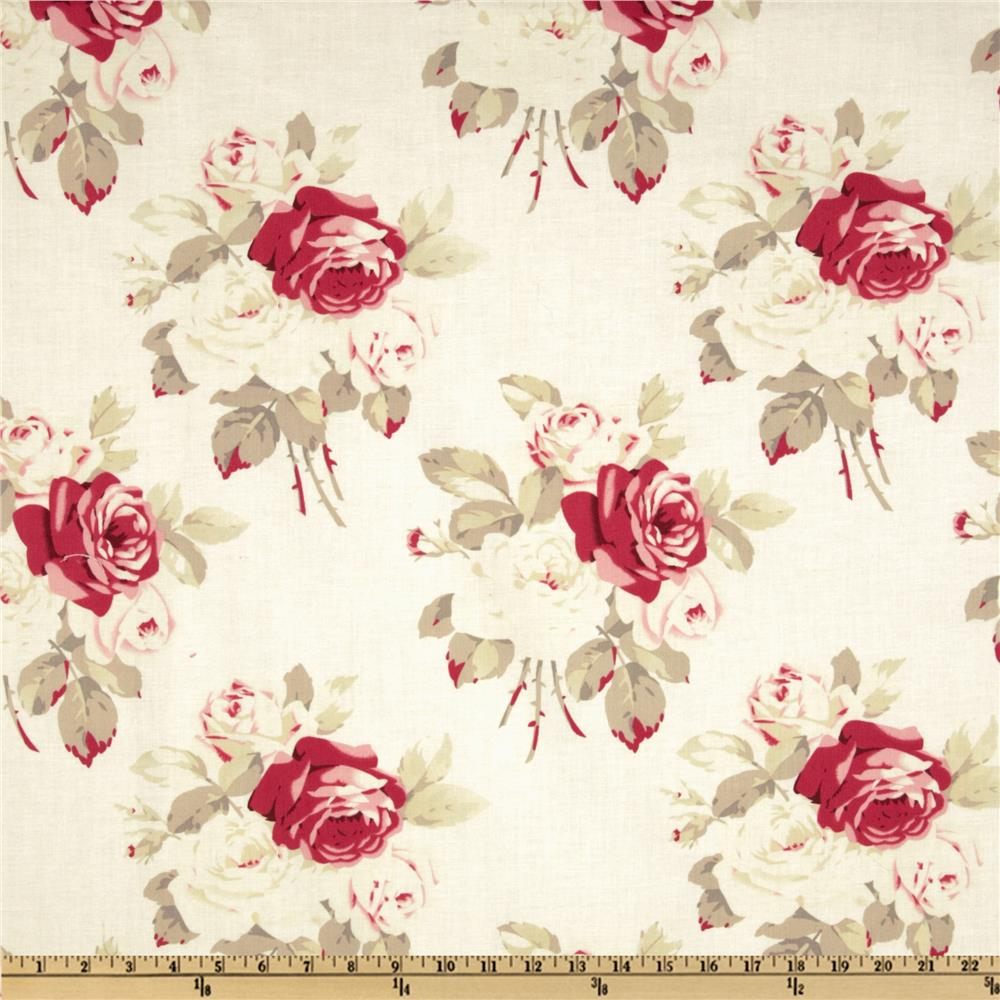 Petal Large Antique Roses Ivory