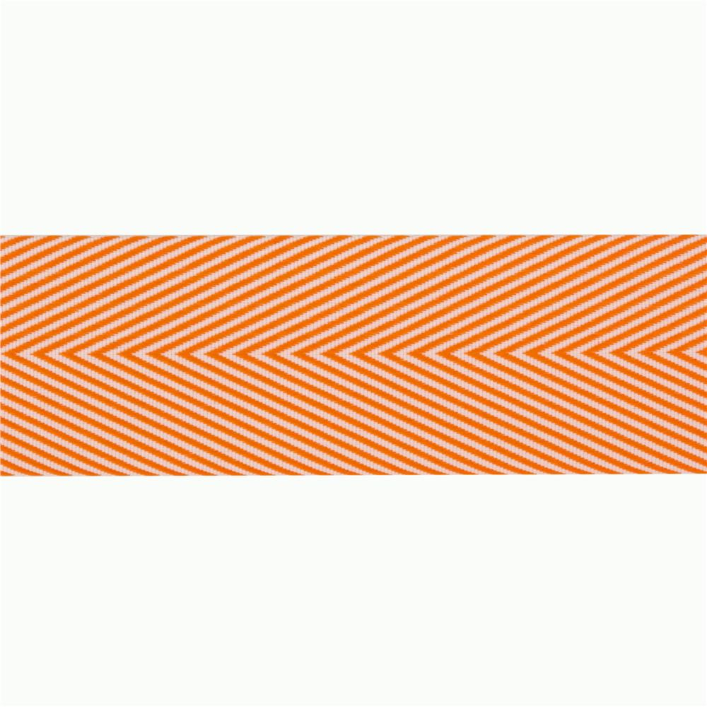 1 1/2'' Twill Tape Chevron Orange
