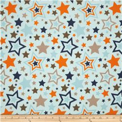 Riley Blake One For The Boys Flannel Tossed Stars Blue