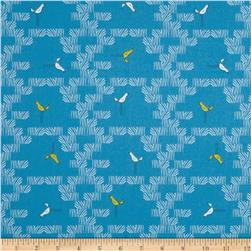 Zaza Zoo Scattered Birds Blue