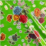 Oil Cloth Mums Green