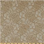 Capri Floral Lace Fabric Taupe
