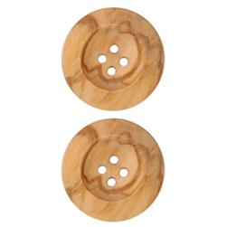 Genuine Wood Button 1 1/8'' Oakwood Natural
