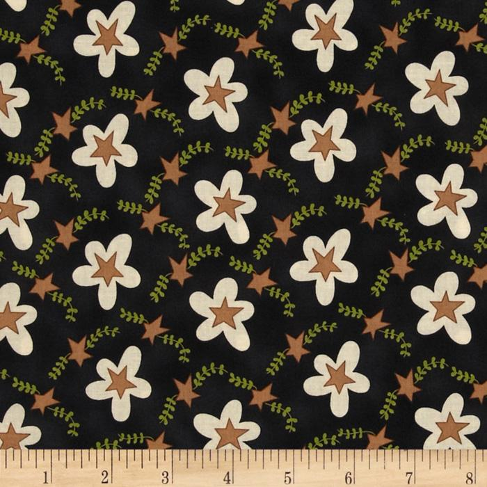 Shasta Floral Scallops Black