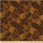 0272396 Abstract Circles Brown