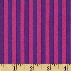 Michael Miller Stripes Clown Stripe Orchid Gray Princess Pink