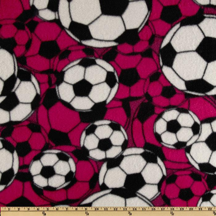 Fleece Soccer Balls Magenta