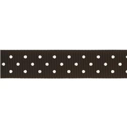 Riley Blake 5/8'' Grosgrain Ribbon Mini Dot Black