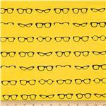 0275923 Riley Blake Geekly Chic Glasses Yellow