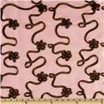 Softline Bliss Satin Ribbon Taffeta Pink/Chocolate