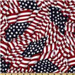 FI-828 Patriotic Flags Red/White/Blue