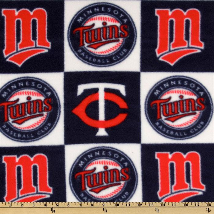 MLB Fleece Minnesota Twins Blocks Red/Navy/White