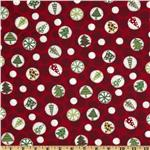 FN-982 Ho Ho Ho Christmas Tree Dots Red